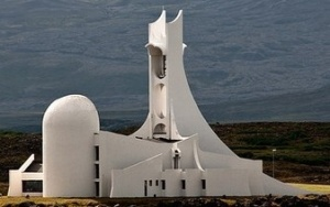 Modern Stykkisholmur Church, Iceland