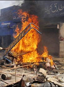 Burning Households of Christians of Joseph Colony