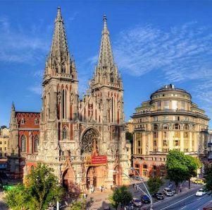 St. Nicholas Roman Catholic Cathedral in Kiev, Ukarine